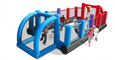 HappyHop 3 in 1 Fußballfeld mit Volleyball und Basketball Funktion Art. 9072N